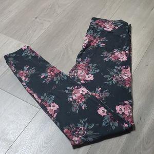 Charlotte Russe Floral Leggings - Large
